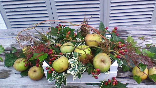 Voici ma décoration extérieur à placer sur la table du jardin, le ...