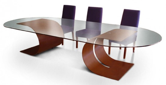 Beautiful dining tables interior design and deco for Beautiful glass dining tables