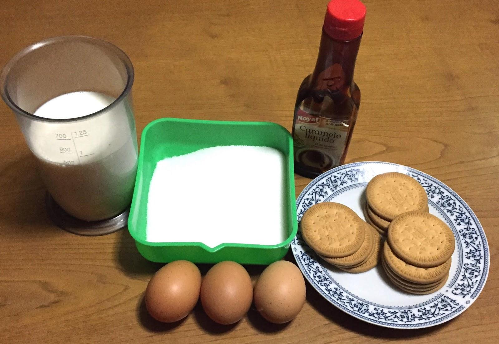 flan de galletas Maria