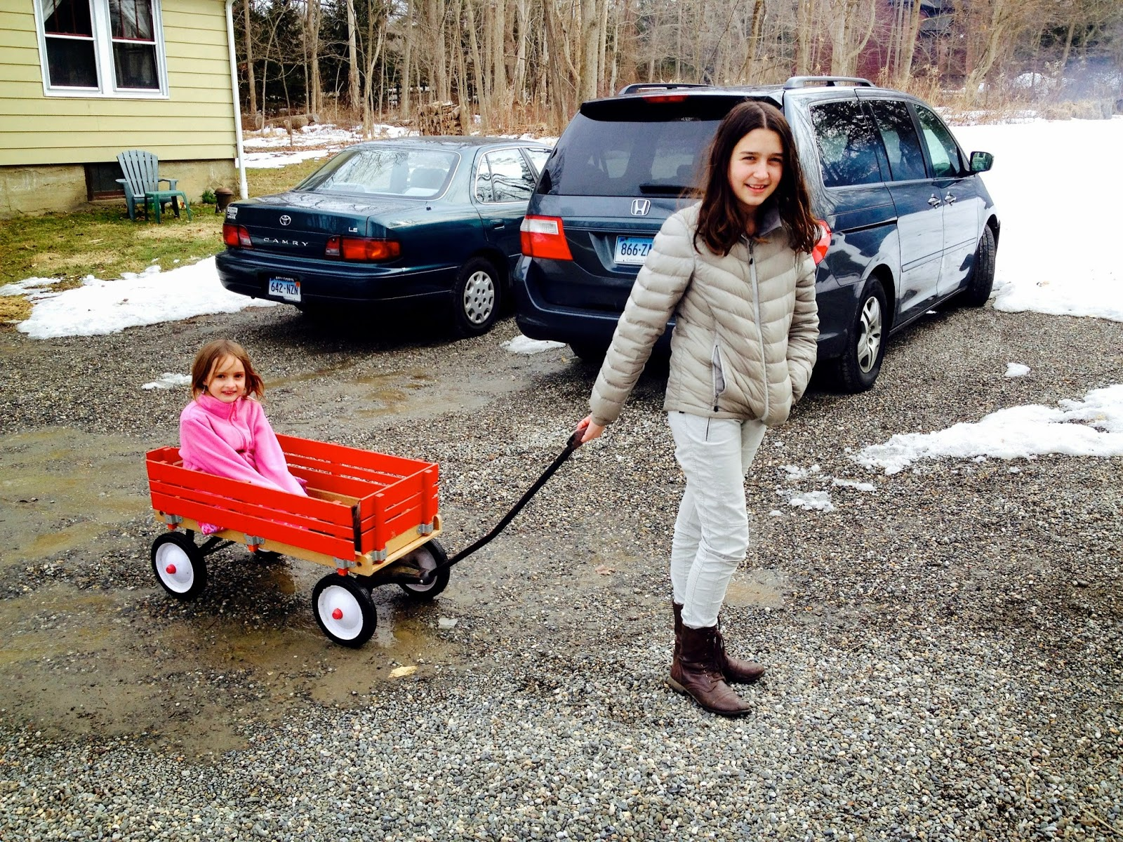 girl in wagon: simplelivingeating.com