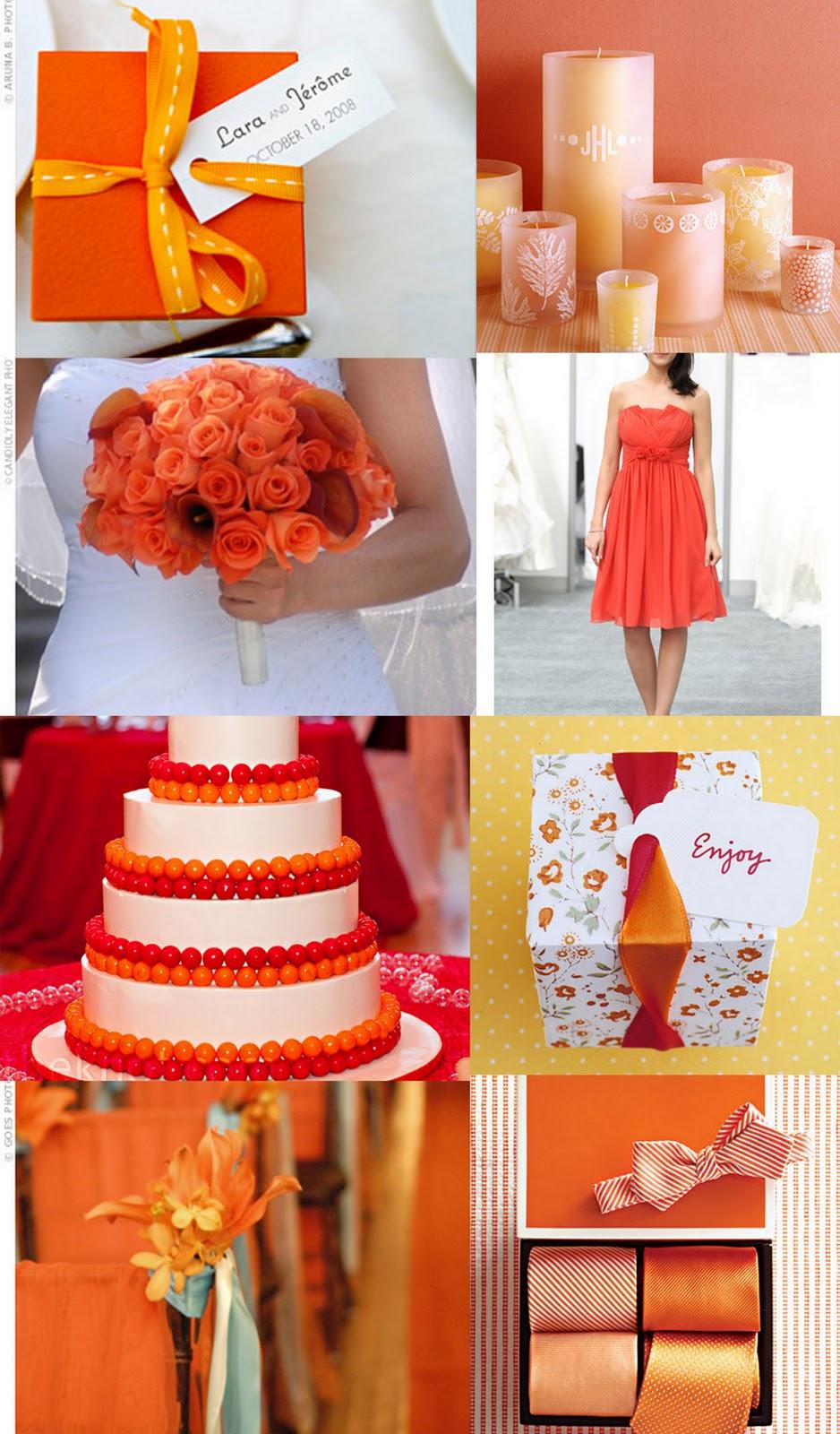 COLOR COMBO - ORANGE, PINK, FUCHSIA, RED, PURPLE, WHITE on ... Tangerine Tango Wedding