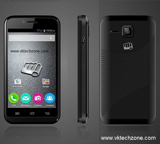 micromax Bolt S301 Front side and back side Image