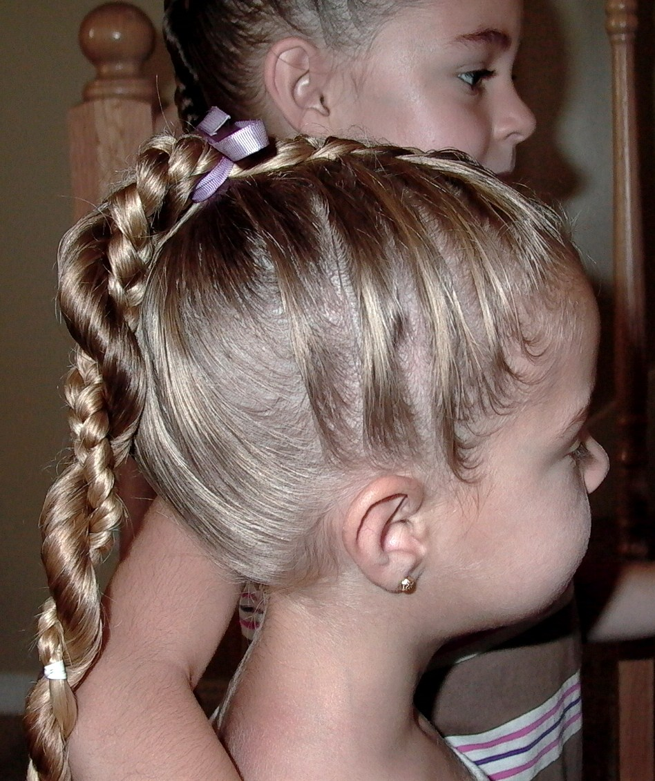 Little Girl Hairstyles French Braid Twist Around