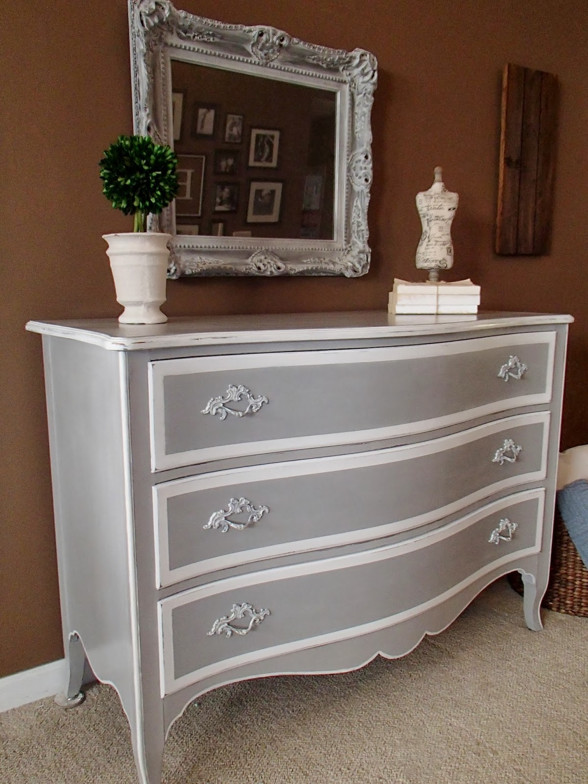 New Again French Chest In Grey White