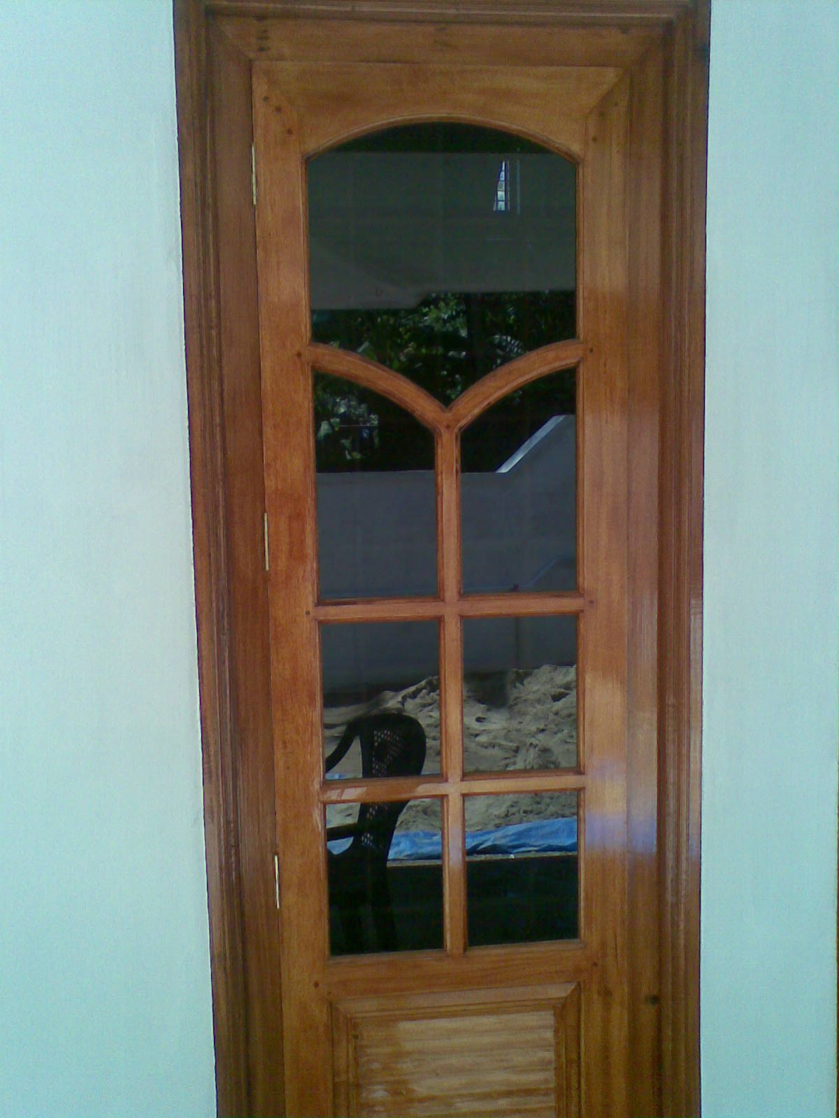 Bavas wood works wood exterior double door main for Double door wooden door