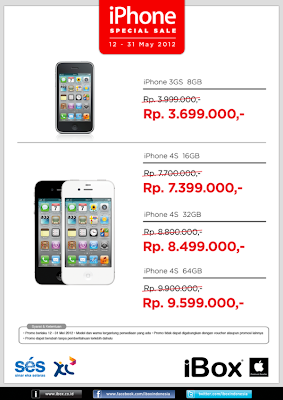 Harga Promo iPhone 3GS dan 4S di Infinite
