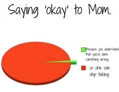 funny facts saying okay to mom ifunny