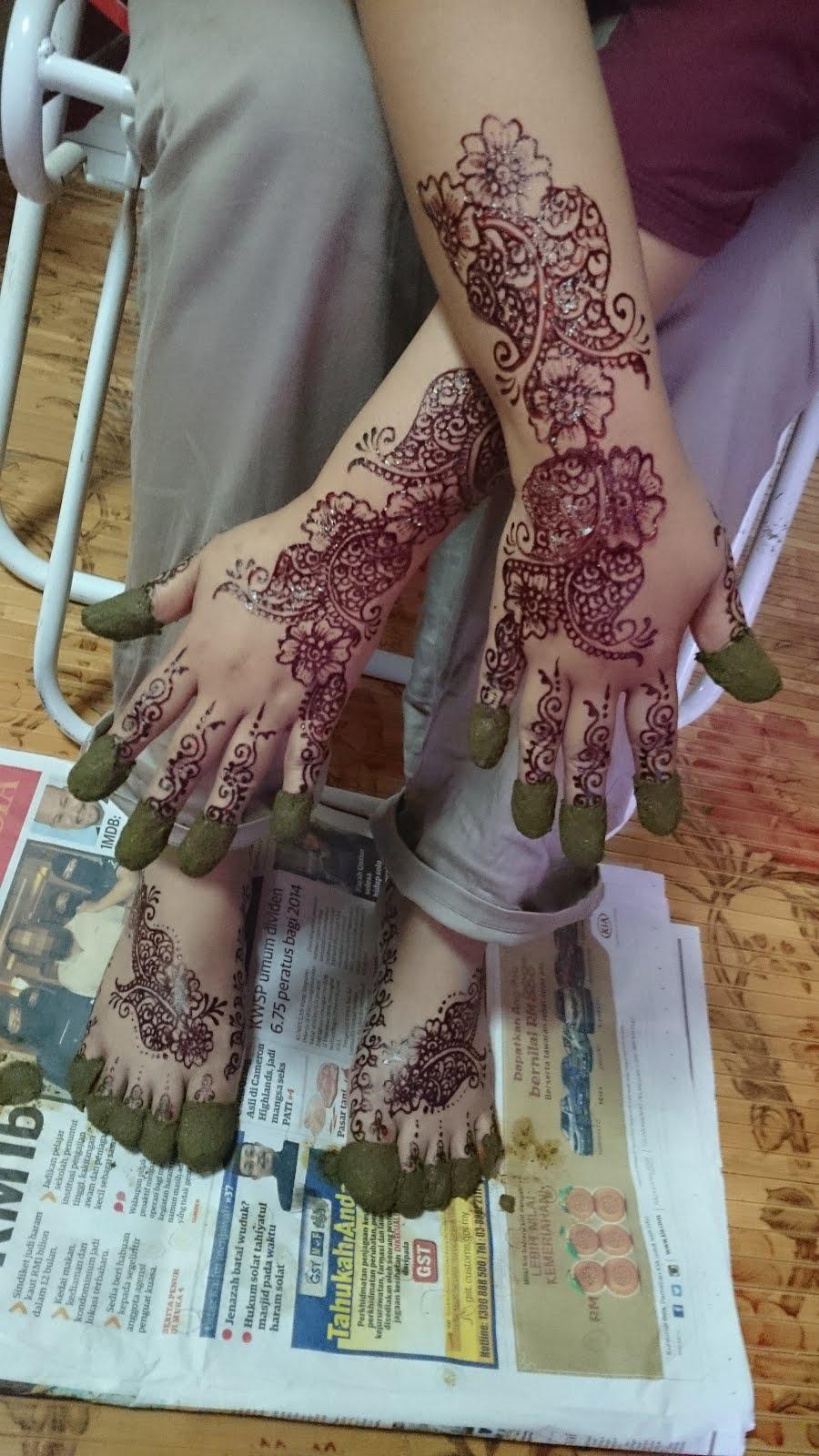Ikha Henna Artist Inai Tradisional VS Moden Contoh Pakej Yang