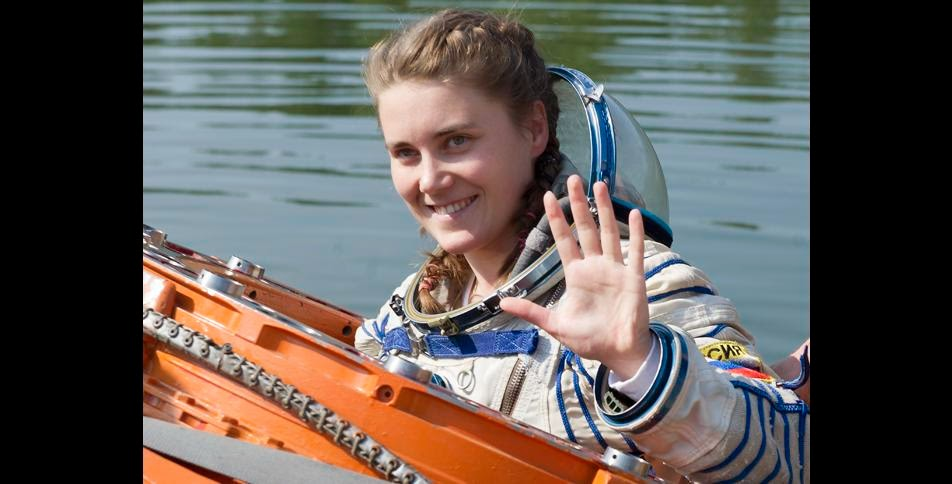 Anna Kikina during the spacecraft water landing training in July 2013. Credit: gctc.ru