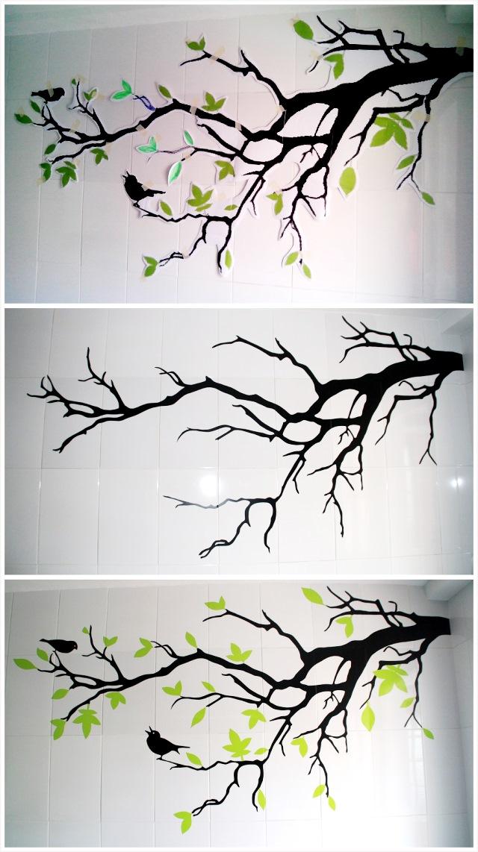 Antes y despu s un vinilo diy en la pared de la cocina for Como pintar un mural exterior