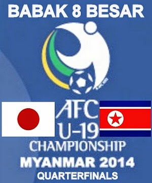 Hasil Pertandingan Jepang Vs Korea Utara, Babak 8 Besar Piala Asia U-19 2014