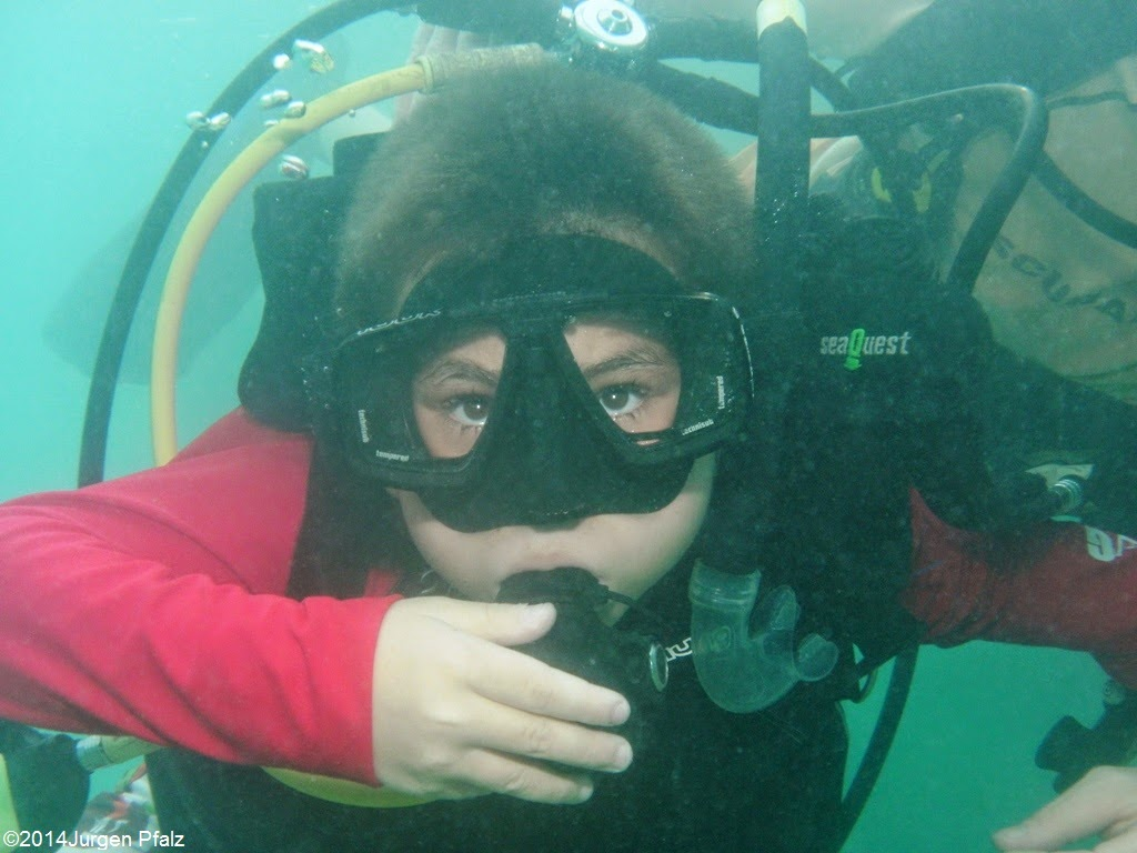 Dennis during his first dive