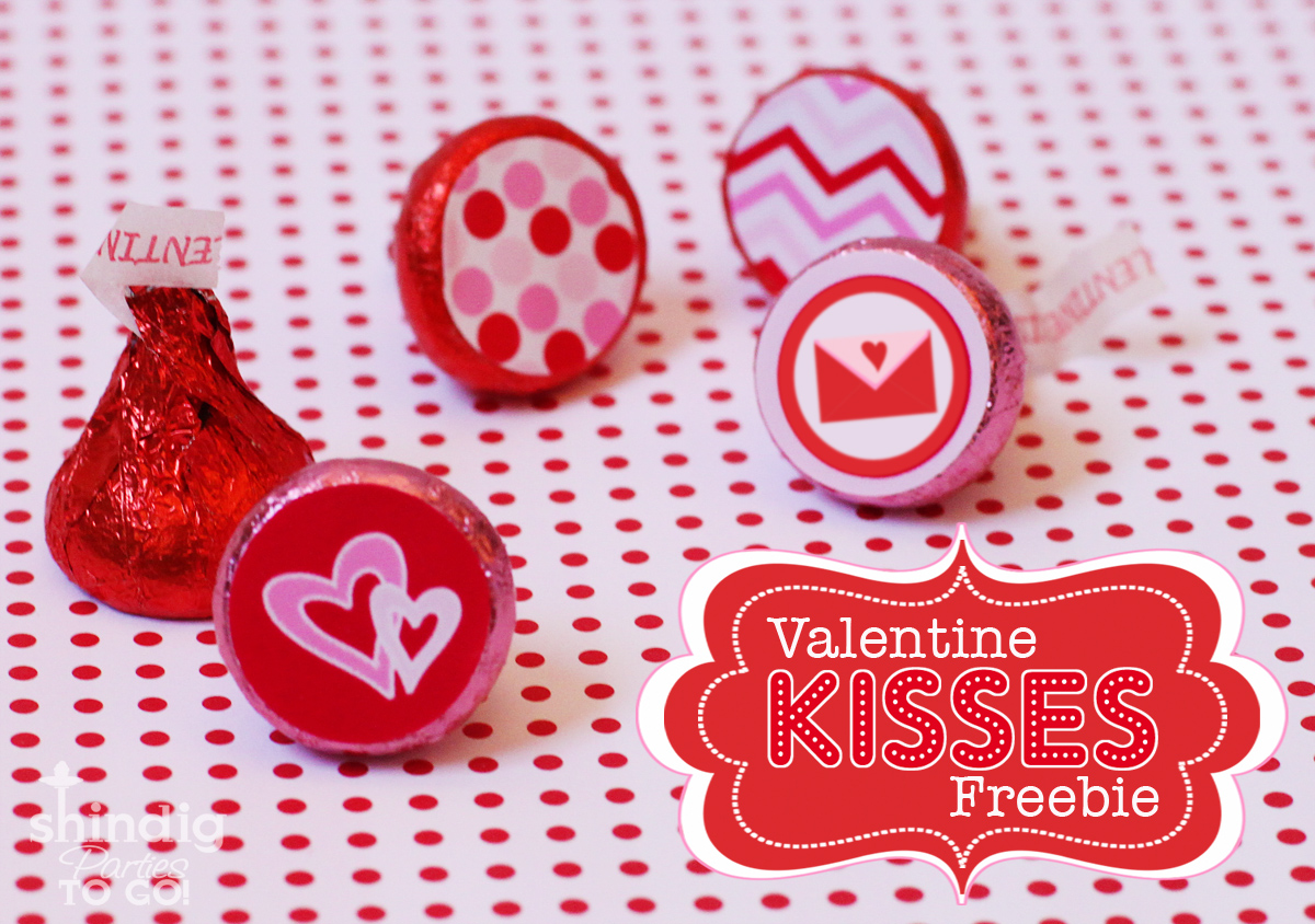 FREEBIE Valentines Hershey Kiss Stickers