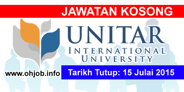 Jawatan Kerja Kosong UNITAR International University logo www.ohjob.info julai 2015