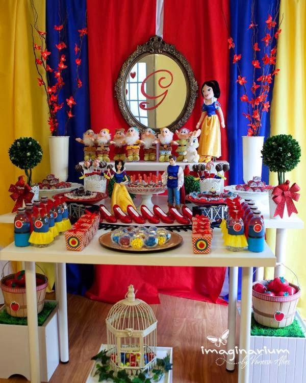 Ideias Decoração Festa Branca de Neve