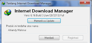Internet Download Manager Teregistrasi