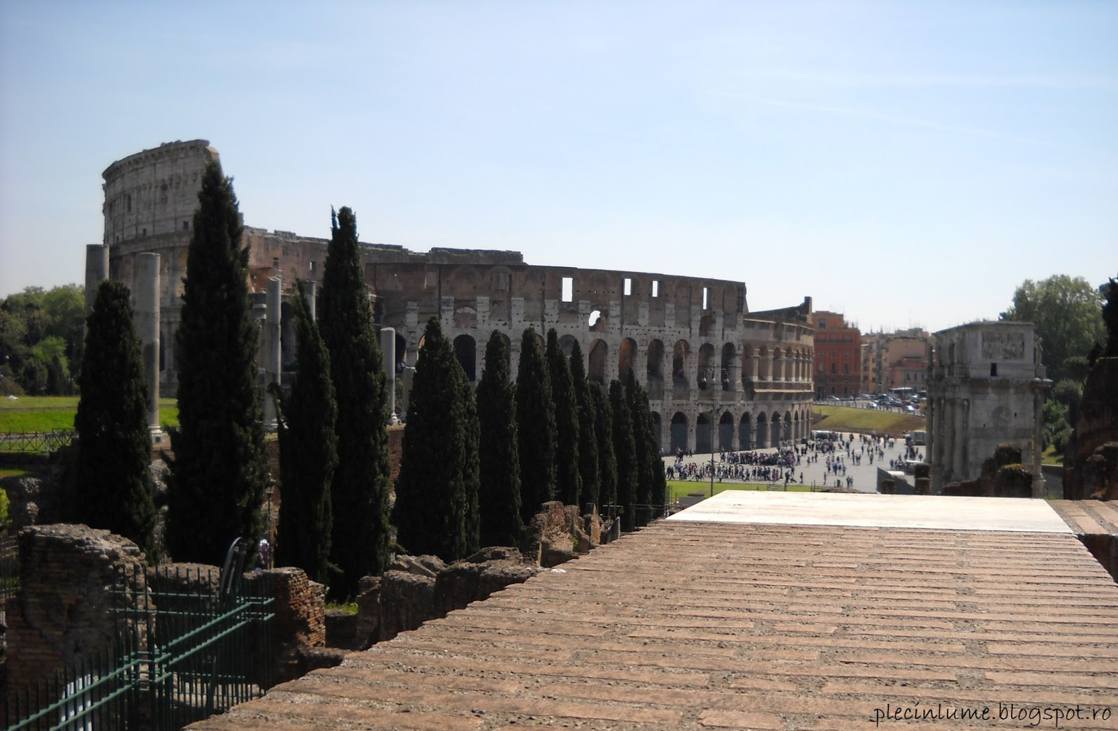 Colloseum vazut din Foro Romano