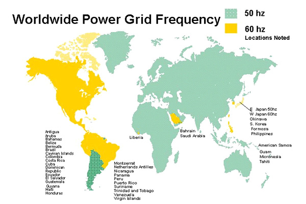 Power Frequency By Country : Voltage selection guide to electrical engineering