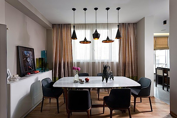 Comfortable Apartment Design With Warm Color