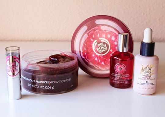 Línea de frambuesa de The Body Shop