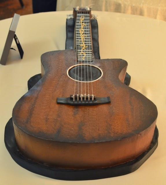 Acoustic Guitar Grooms Cake