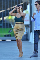 Kim Kardashian leggy candids