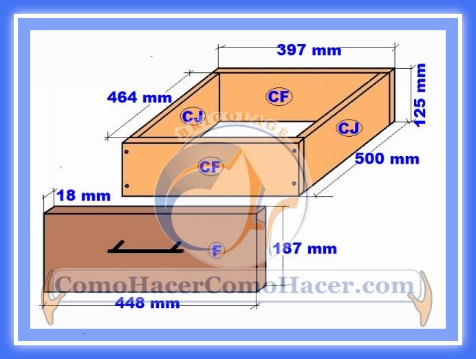 Muebles cocina plano mueble bajo web del bricolaje for Medidas estandar de cajones de cocina