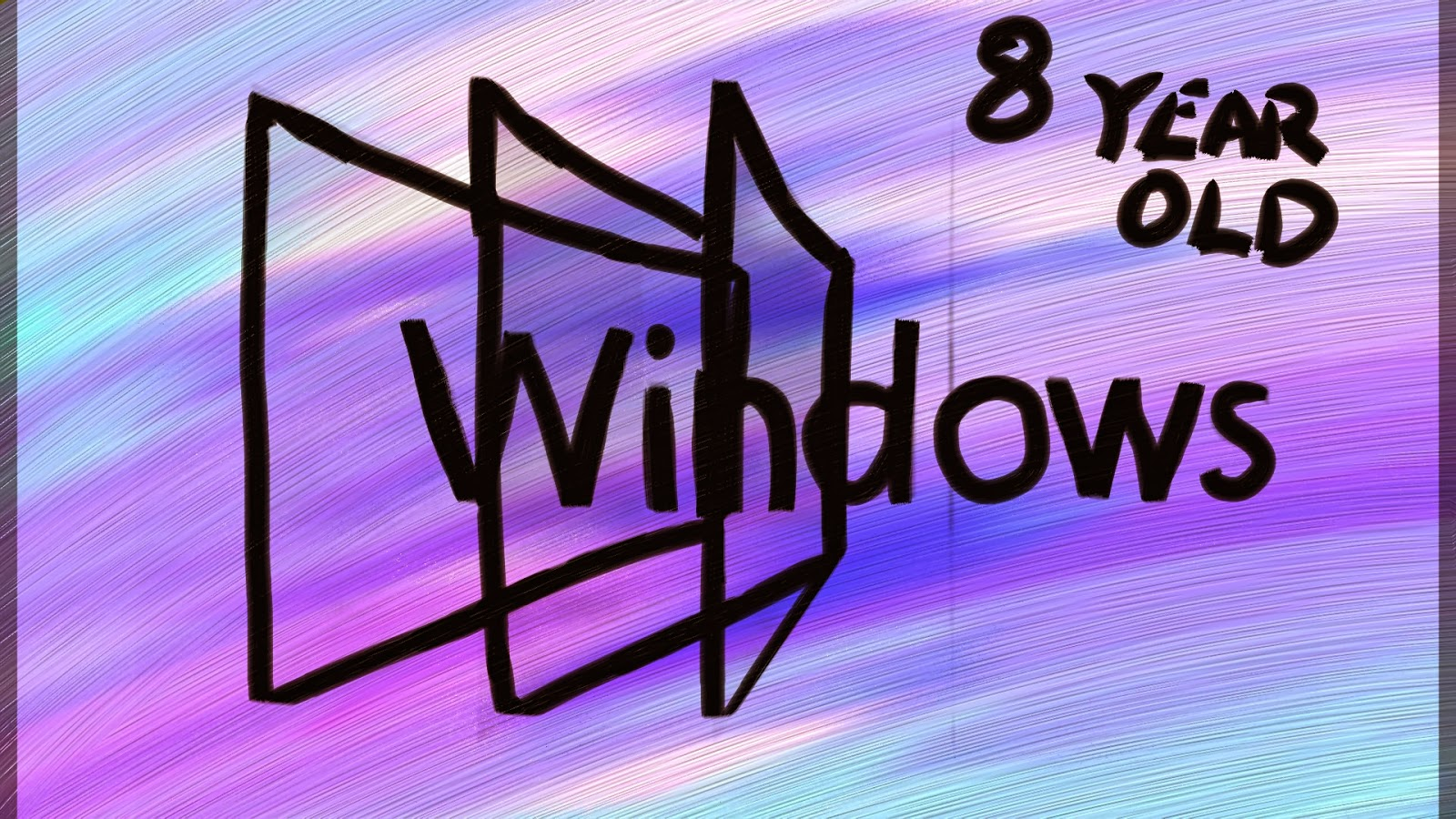 Windows 8 by an 8 Year Old Wallpaper Art