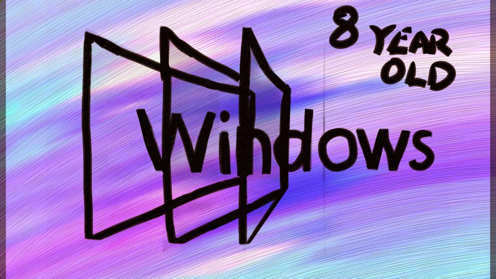 Windows 8 by an 8 Year Old Wallpaper Art