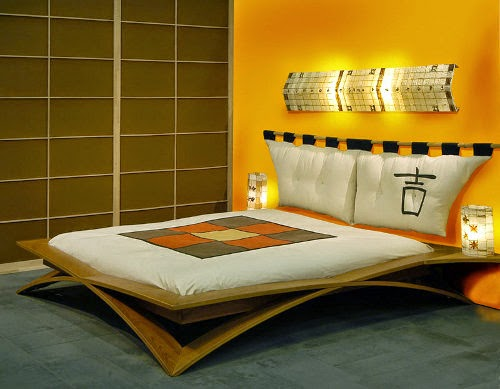 wooden japanese bedroom design layout