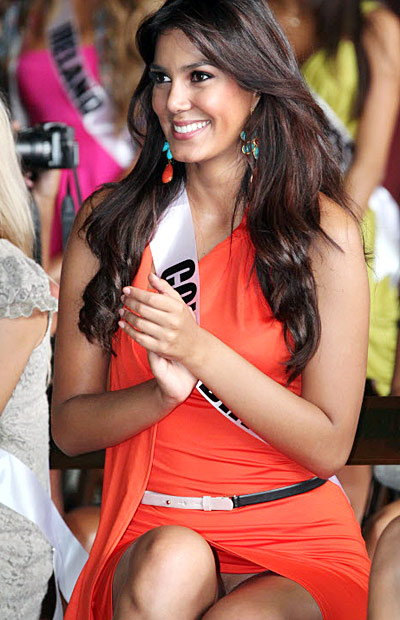Miss Colombia Catalina Robayo , candidate for Miss Universe 2011 is