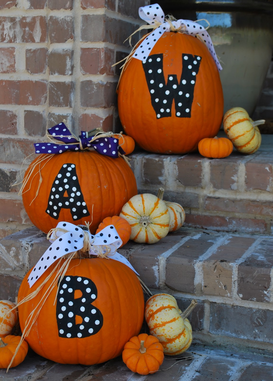 Halloween painted pumpkins amanda jane brown - Cute pumpkin painting ideas ...