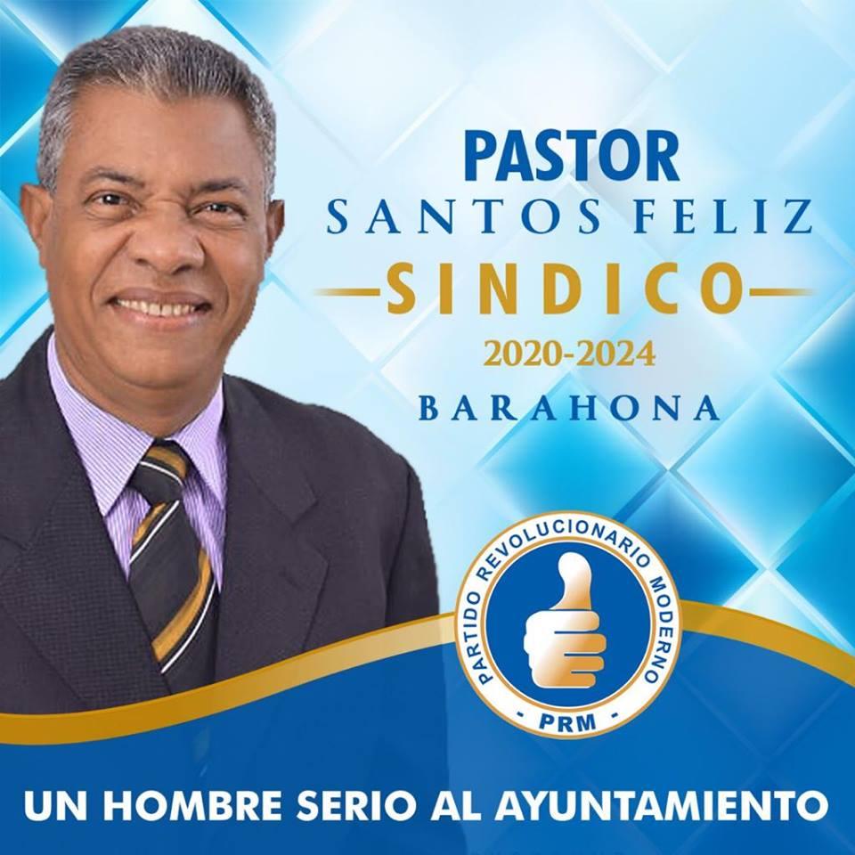 PASTOR SANTOS FELIZ, Alcalde Santa Cruz de Barahona por el PRM 2020-2024