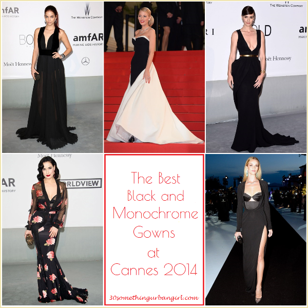 the best black and monochorome dresses at Cannes 2014