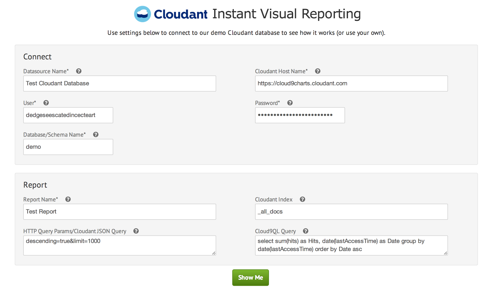Cloudant Instant Reporting