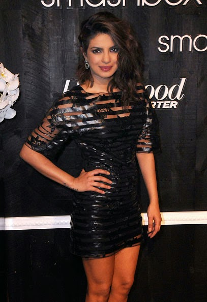 Sexy Priyanka Chopra in Black Mini-dress