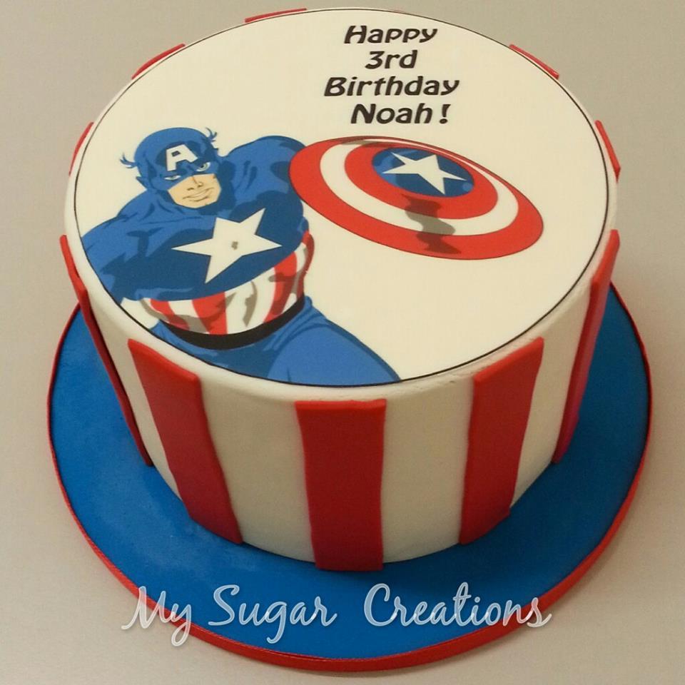 My Sugar Creations 001943746 M 2d Captain American Birthday Cake