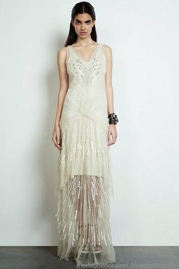 Moda vestidos de fiesta largos 2014 María Vazquez.