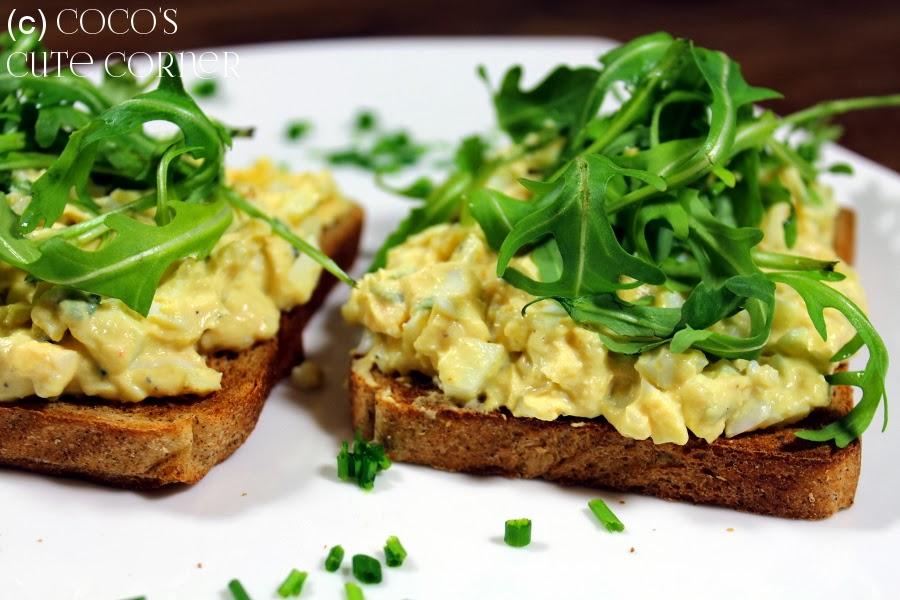 Mayo Free Egg Salad Canape