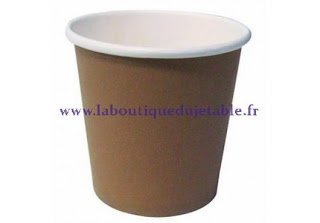 Gobelet en carton couleur marron et blanc pour expresso chaud