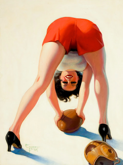 football pin up