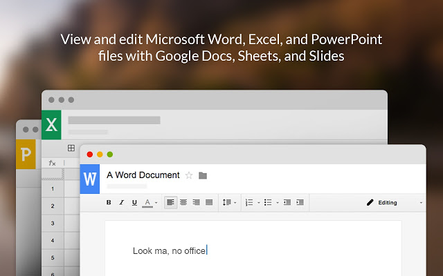 Convierte Google Chrome en editor de documentos de Office.