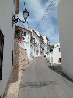 Traditional Spanish whitewash houses in Altea, Spain