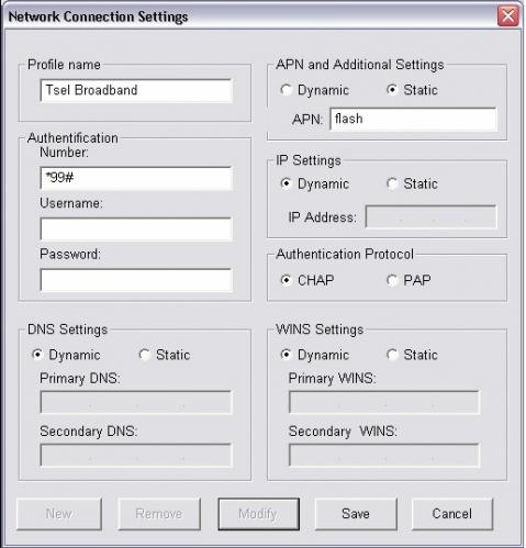 Setelah menginstall driver, buka program Mobile Connect Buka dialog