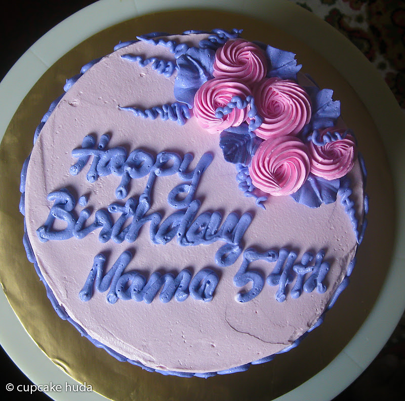 Happy Birthday Mama Izza cupcake huda