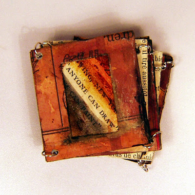 slide frames, altered book