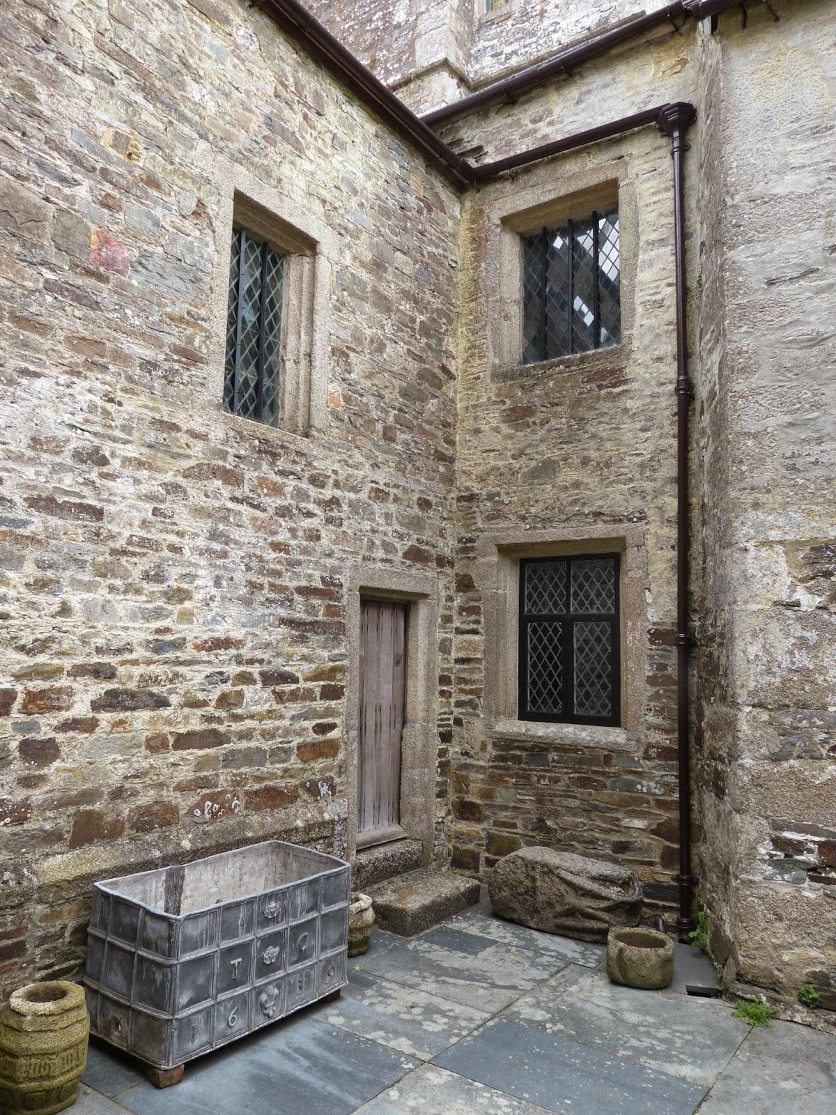 Tudor courtyard, Cotehele