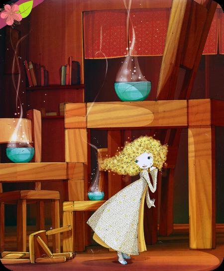 """""""Boucle d'Or et les trois ours """" adapté par Anne Royer et illustré par Mayalen Goust"""