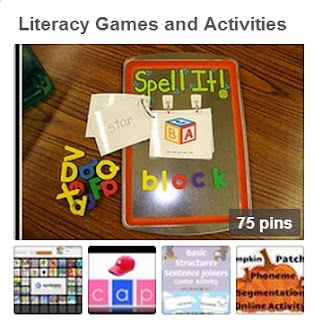 Literacy Games and Activities Pinterest Board