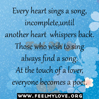Every heart sings a song, incomplete